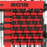 2012 Calendar 3D Royalty Free Stock Image