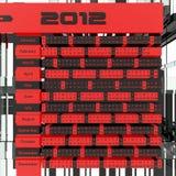 2012 Calendar 3D Royalty Free Stock Image