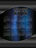 2012 Calendar Abstract Royalty Free Stock Photo