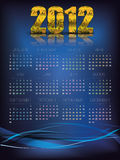2012 Calendar Abstract Stock Photo