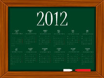 2012 calendar on board. 2012 calendar on school board, abstract vector art illustration Stock Images