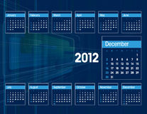 2012 Calendar. December. 2012 Calendar. Abstract Background Illustration royalty free illustration