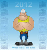2012 calendar health and safety. Construction industry Royalty Free Stock Photo