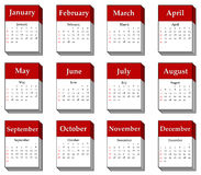 2012 calendar icon. S isolated on white Stock Image