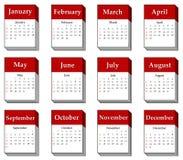 2012 calendar icon Stock Image