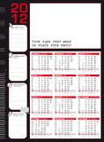 2012 calendar in Italian and English with rulers Stock Photo