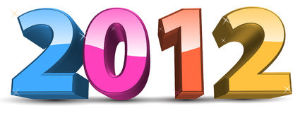 2012 calendar number Stock Photo