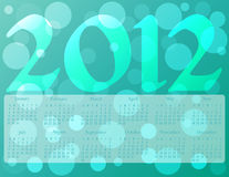 2012 Calendar in Ocean Colors. 2012 Calendar on a Bokeh background in Ocean Colors Royalty Free Stock Photography