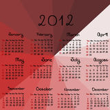 2012 calendar on red background. 2012 calendar on red abstract background Stock Photography