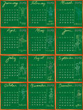 2012 calendar with student profile Royalty Free Stock Image