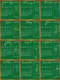 2012 calendar with student profile Stock Photo