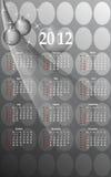 2012 calendario del estilo del asunto, vector de los cdr Imágenes de archivo libres de regalías