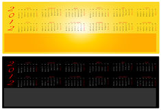 2012 calendars. In Spanish and two different colors Royalty Free Stock Photography