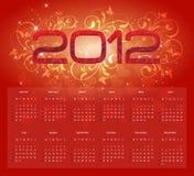 2012 Calender. Calender design for year 2012 Stock Photos