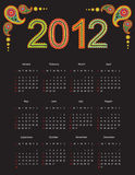 2012 Calender. Calender design for year 2012 royalty free illustration