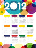 2012 Calender. Calender design for year 2012 Stock Photography