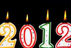 2012 candele Fotografie Stock Libere da Diritti