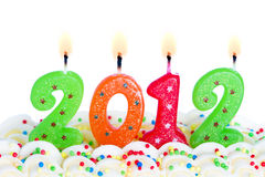 2012 candles Stock Image