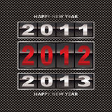 2012 carbon fiber change. Modern carbon fiber background with 2012 new year counter Royalty Free Stock Images