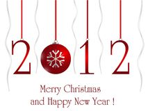 2012 card. With xmas ball, eps8 Royalty Free Stock Image