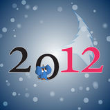 2012 card. Original new year 2012 card vector illustration