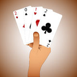 2012 casino year. Abstract vector art illustration Royalty Free Stock Image