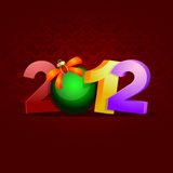 2012 celebration. Detailed illustration of a new year background, showing the year 2012 Royalty Free Stock Photo