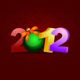 2012 celebration Royalty Free Stock Photo
