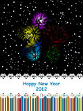 2012 celebration card. Fireworks new year 2012 celebration card royalty free illustration