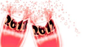 2012 celebrations, New Year Stock Images