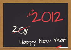 2012 chalkboard. Illustration of chalkboard wuth 2012 happy new year text Stock Photos
