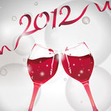 2012, cheer!. Celebration of new year 2012 with champagne, cheer stock illustration