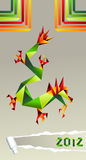 2012 China origami dragon year Royalty Free Stock Images