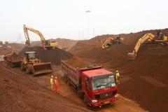 2012 Chinas Abnahme in der Nachfrage nach Eisenerz Stockfotografie