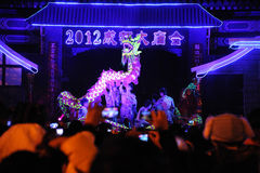 2012 Chinese New Year  dragon dances Stock Photography