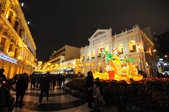 2012 chinese new year in macau Royalty Free Stock Photo