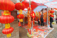 2012 chinese new year market Royalty Free Stock Photos