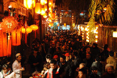 2012 Chinese New Year Temple Fair in Chengdu. The year of the dragon, Visitors enjoy the Spring Festival Temple Fair at wuhouci, jinli old street on february 6 Royalty Free Stock Photo