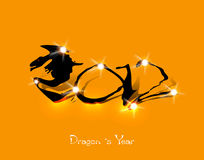 2012, Chinese Year of Dragon. Concept Royalty Free Stock Photography