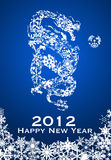 2012 Chinese Year of the Dragon Snowflakes. 2012 Chinese Year of the Dragon with Snowflakes Illustration Royalty Free Stock Photo