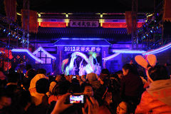 2012 chinesische Drachetänze des neuen Jahres Lizenzfreie Stockfotografie