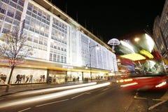 2012 Christmas lights on London street Stock Images
