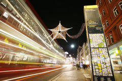 2012 Christmas lights on London street Royalty Free Stock Photography