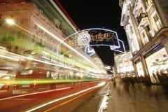 2012 Christmas lights on London street Royalty Free Stock Photos
