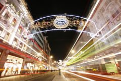 2012 Christmas lights on London street Stock Image