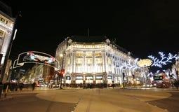 2012 Christmas lights on London street Stock Photos