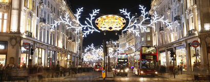 2012 Christmas lights on London street Stock Images