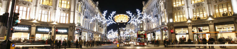 2012 Christmas lights on London street Royalty Free Stock Image