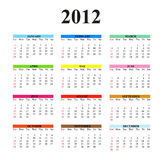 2012 Clear Simple Calendar. 2012 calendar designed on a white background. Times New Roman font used Stock Images
