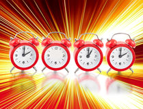 2012 with clocks. Abstract 2012 made with red clocks Stock Photo